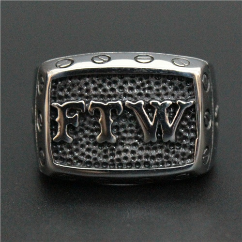 FTW Biker Ring 316L Stainless Steel