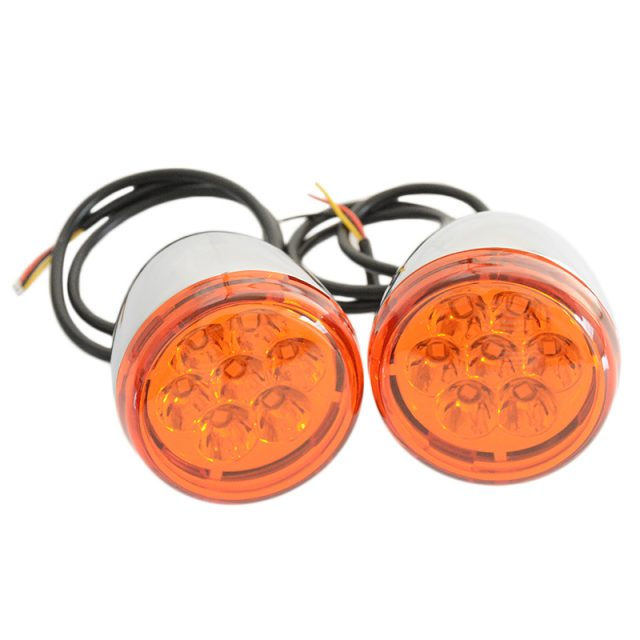 Chrome Rear LED Turn Signals For Harley Davidson Sportster