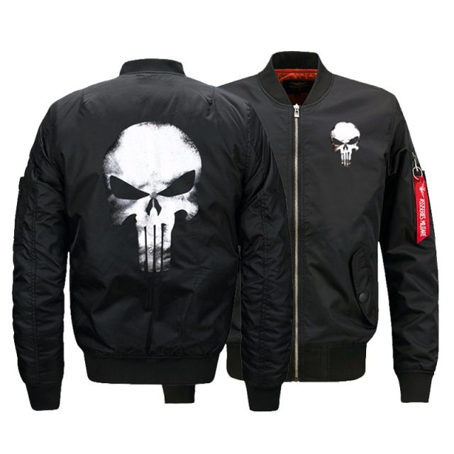 Bomber Jacket – Punisher Skull