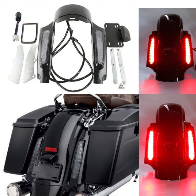 LED Light Rear Fender Fascia Set For Harley Touring Road King Street Electra Glide FLHX FLHR FLHT FLTRU FLHTCU