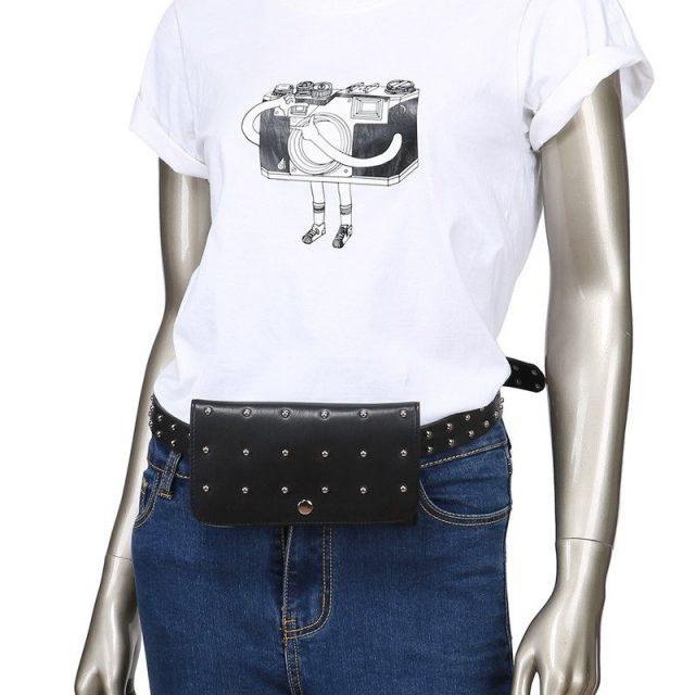 Women's Rivet Decoration Belt Bag